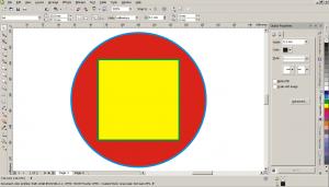 Два простых примитива - круг и квадрат с контурами в CorelDraw X5