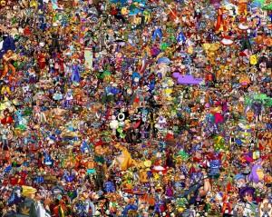 Все персонажи из 8-битных игр на одной картинке