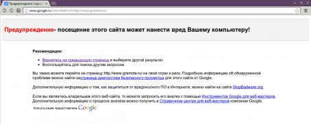 Google заблокировал Gramota.ru